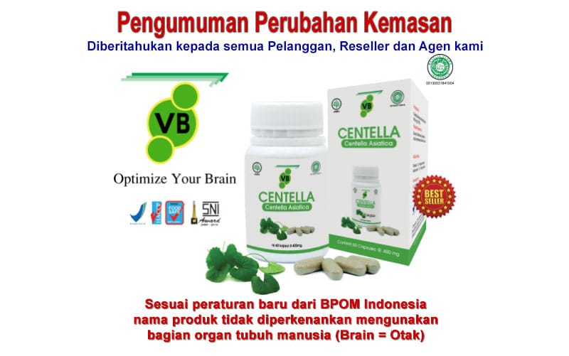 VB Centella adalah Vitabrain untuk Smart Brain Anda