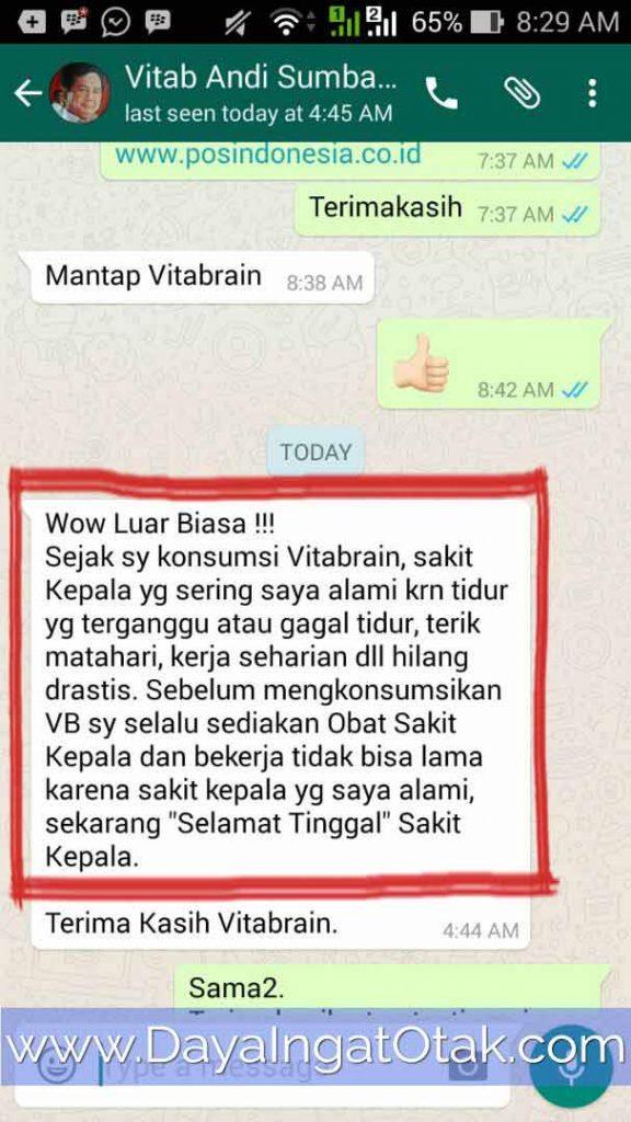Testimoni Vitabrain